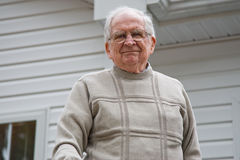 Het hogere Glimlachen van de Bejaarde Stock Foto
