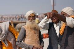 Het hogere Indische mensen spreken Royalty-vrije Stock Fotografie