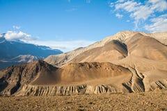 Het hogere landschap van de Mustangberg, Nepal Stock Fotografie