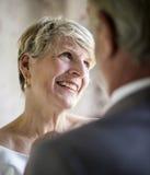 Het hogere Paar Vrolijk Glimlachen royalty-vrije stock fotografie