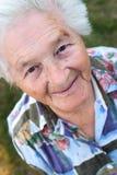 Het hogere vrouw glimlachen Royalty-vrije Stock Foto's