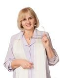 Het hogere vrouw glimlachen Royalty-vrije Stock Fotografie