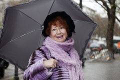 Het hogere vrouw Lachen Royalty-vrije Stock Foto's