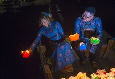 Het Hoi An Full Moon Lantern-Festival Stock Afbeelding
