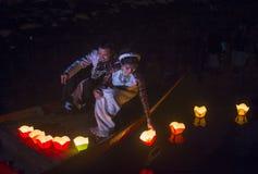 Het Hoi An Full Moon Lantern-Festival Stock Fotografie