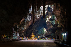 Het hol van Boedha, Tham Khao Luang Phetchaburi, Thailand Royalty-vrije Stock Afbeeldingen