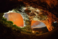 Het hol van de student van Trascau-bergen, Roemenië Stock Afbeelding