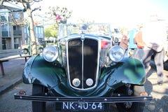 Het hol van Nederland - van Nieuwerkerk aan IJssel - Mei vijfde 2018 - klassieke auto's en motoren verzameling genoemde Hollandse Royalty-vrije Stock Afbeelding