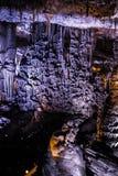 Het hol van stalactietenstalagmieten Royalty-vrije Stock Fotografie