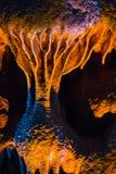 Het hol van stalactietenstalagmieten Royalty-vrije Stock Foto
