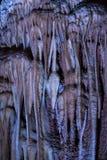 Het hol van stalactietenstalagmieten Royalty-vrije Stock Afbeeldingen