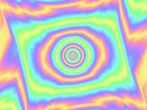 Het holografische patroon folie van de achtergrond Multicolored Doel Kleurrijke cirkel royalty-vrije illustratie
