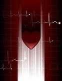 Het hologram van het hart Stock Afbeeldingen
