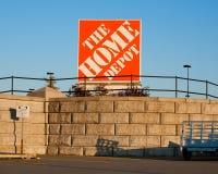 Het Home Depot-Teken royalty-vrije stock afbeelding