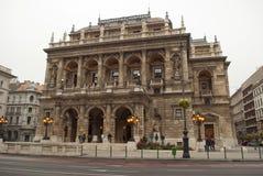 Het Hongaarse Huis van de Opera van de Staat in Boedapest Royalty-vrije Stock Afbeeldingen