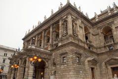 Het Hongaarse Huis van de Opera van de Staat in Boedapest Stock Foto