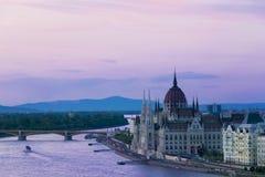 Het Hongaarse parlement Royalty-vrije Stock Foto's