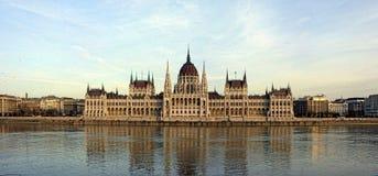Het Hongaarse Parlement, Orszà ¡ ghà ¡ z, Boedapest, Hongarije Royalty-vrije Stock Foto