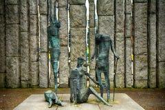 Het Hongersnoodgedenkteken in St Groene Stephen ` s, Dublin, Ierland stock afbeeldingen