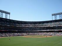Het honkbal van de tentoonstelling bij het Park 2009 van AT&T Stock Foto