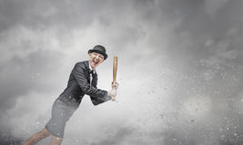 Het honkbal van het vrouwenspel Stock Afbeelding