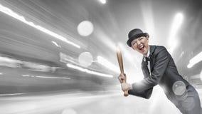 Het honkbal van het vrouwenspel Gemengde media Royalty-vrije Stock Foto