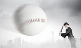 Het honkbal van het vrouwenspel Gemengde media Royalty-vrije Stock Foto's