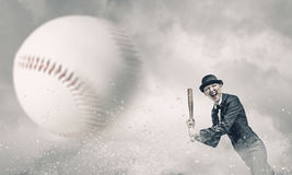 Het honkbal van het vrouwenspel Gemengde media Royalty-vrije Stock Afbeelding