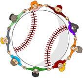 Het honkbal van jonge geitjes Stock Afbeeldingen