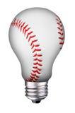 Het honkbal van Lightbulb Stock Afbeelding