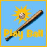Het honkbalillustratie van het spel royalty-vrije illustratie