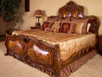 Het hoofd Unieke Bed van de Slaapkamer Royalty-vrije Stock Foto's