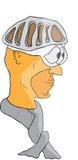 Het hoofd van de beeldverhaalfietser Royalty-vrije Stock Afbeelding