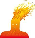 Het hoofd van de brand Stock Fotografie