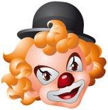 Het hoofd van de clown Stock Afbeelding