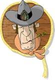 Het hoofd van de cowboy stock illustratie