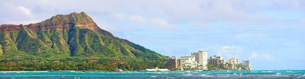 Het Hoofd van de diamant - Waikiki, Hawaï Stock Afbeelding
