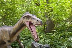 Het hoofd van de dinosaurus stock fotografie