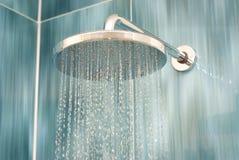 Het hoofd van de douche stock afbeelding