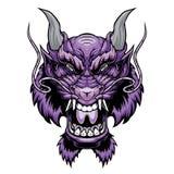 Het hoofd van de draak royalty-vrije illustratie