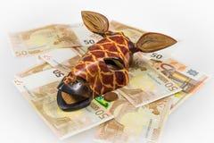 Het hoofd van de giraf op contant geld Royalty-vrije Stock Afbeelding
