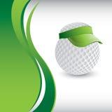 Het hoofd van de golfbal met viziermalplaatje Stock Afbeeldingen