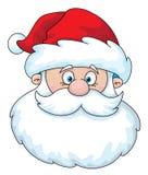 Het hoofd van de kerstman Royalty-vrije Stock Afbeeldingen