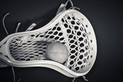 Het Hoofd van de lacrosse met Zwart-witte Bal Stock Foto's