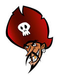 Het Hoofd van de piraat   Stock Afbeelding