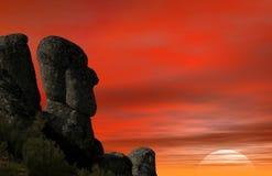 Het hoofd van de rots Stock Afbeeldingen
