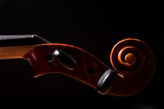 Het hoofd van de viool royalty-vrije stock afbeelding