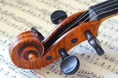 Het Hoofd van de viool Stock Fotografie
