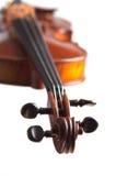 Het hoofd van de viool stock foto
