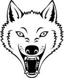 Het hoofd van de wolf Stock Afbeeldingen